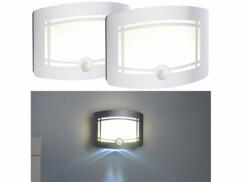 2 appliques LED sans fil à éclairage automatique WL-250 - Avec piles