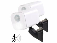 2 appliques murales LED sans fil avec détecteur de mouvement - Orientables