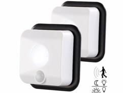 2 appliques murales LED sans fil intérieur/extérieur avec détecteur de mouvement