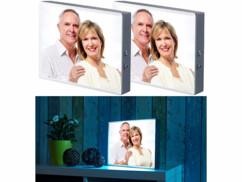 2 boîtes d'affichage lumineuses pour films transparents et feuilles A4