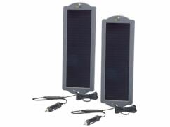 2 chargeurs de maintien solaires pour batterie de voiture 12 V 1,5 W