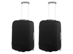 2 housses de protection élastiques pour valise jusqu'à 53 cm - Taille M