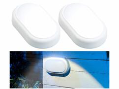 2 lampes LED ovales antichoc 15 W - 1050 lm - Blanc