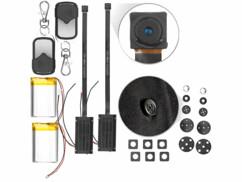 2 micro caméras HD télécommandées avec capteur de mouvement