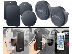 2 supports magnétiques pour smartphone avec fixer sur une grille de ventilation