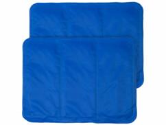 2 sur-oreillers rafraîchissants - 30 x 40 cm - Bleu