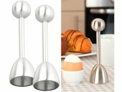 2 toqueurs à œufs en acier inoxydable
