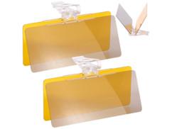 2 visières auto anti-éblouissement soleil/nuit 30 x 13 cm
