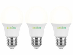 Pack de 3 ampoules LED avec culot E27 Luminea.
