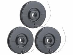 Trois bobines de fil à découper pour coupe-polystyrène MBG-400 AGT.