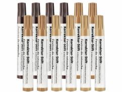 Lot de 12 stylos correcteurs pour meubles en bois.