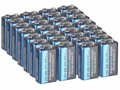 Lot de 30 piles alcalines 9 V de la marque Pearl.
