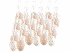 Lot de 32 oeufs de Pâques à suspendre.