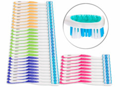 36 brosses à dents 4 couleurs - Adultes - Poils durs