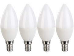 Pack de 4 ampoules LED E14 bougie Luminea.