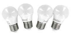 4ampoules rétro LED E27 3 W - Blanc chaud