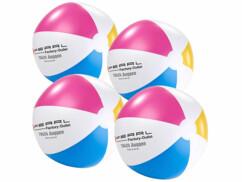 Quatre ballons de plage Pearl gonflables.