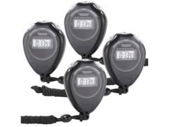 Quatre chronomètres sport classiques.