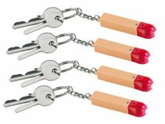 4 porte-clés design allumette avec LED