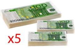 5 lots de mouchoirs et serviettes en papier imprimés 100 Euros