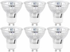 Pack de 6 spots LED GU10 de la marque Luminea.
