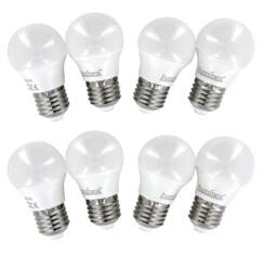 8ampoules rétro LED E27 3 W - Blanc chaud