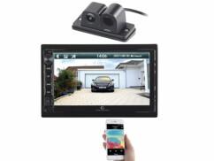 Autoradio 2 DIN avec écran tactile CAS4445.V2 avec caméra de recul compatible.