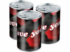 3 boîtes métalliques cadeau - I love You - Ø 78 x 111 mm