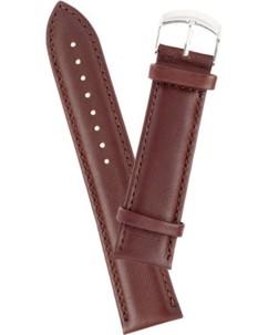 Bracelet de montre cuir lisse - marron 20 mm