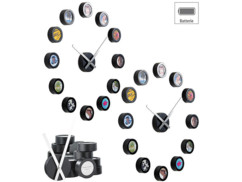 2 horloges murales personnalisables avec 12 photos