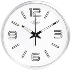 Horloge radio-pilotée chiffres phosphorescents
