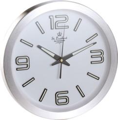 Horloge radio-pilotée phosphorescente en aluminium