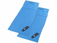 Lot de 2 draps pour sac de couchage ultra-fins en microfibres