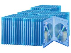 Lot de 50 boîtiers fins transparents pour Blu-ray, pour 2 disques chacun