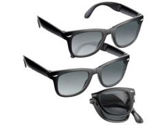 2 lunettes de soleil pliables