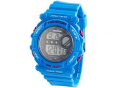 Montre bracelet sport avec chronomètre - bleu