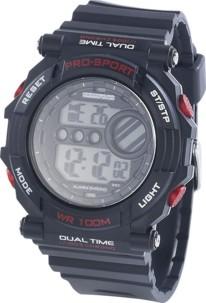 Montre bracelet sport avec chronomètre - noir