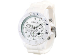 Montre multifonction Look Chrono - Blanc