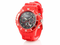 Montre multifonction Look Chrono - Rouge
