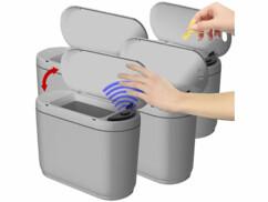 Lot de 4 poubelles automatiques de 2 L.