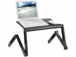 Station de travail en aluminium pour ordinateur portable et tablette
