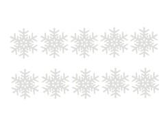 10 ''Flocons de Neige'' phosphorescents autoadhésifs