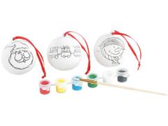 3 Boules de Noël en céramique personnalisables (reconditionné)