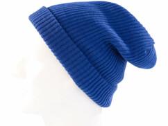 Bonnet tricoté bleu roi