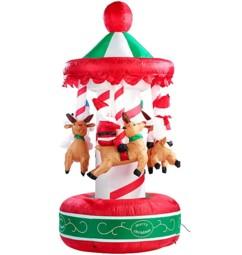 Carrousel de Noël gonflable