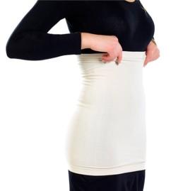 Ceinture chauffe-reins sans coutures latérales - blanc - M