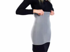 Ceinture chauffe-reins sans coutures latérales - gris - XS