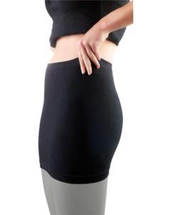Ceinture chauffe-reins sans coutures latérales - noir - XS