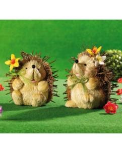 Couple de hérissons en paille ''Pieksy & Stupps''