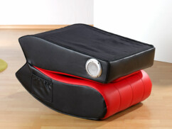 Fauteuil avec hauts-parleurs intégrés - Noir / Rouge